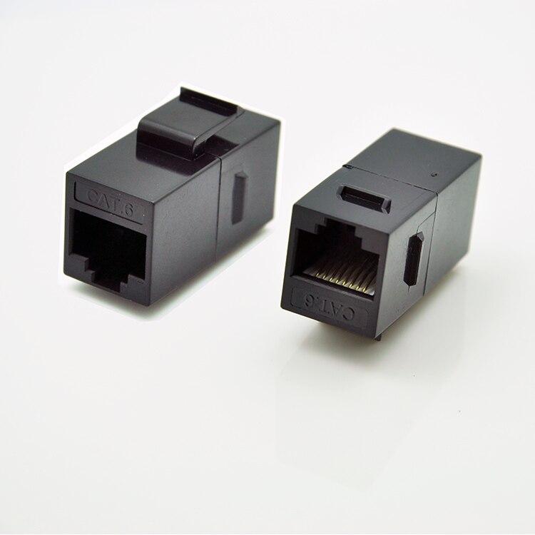 Gigabit RJ45 Cat.6 inline female adapter coupler - unshielded adapter for blank patch panel