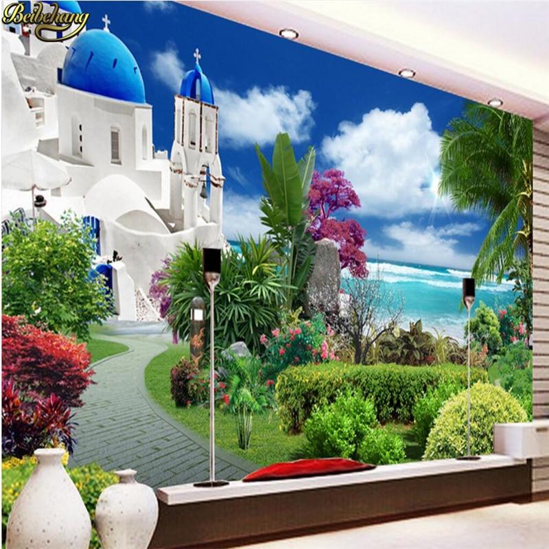 Papel de pared beibehang papel de pared personalizado foto frescos jardín Egeo FONDO de HDTV papel de pared papel tapiz 3d ducha cabeza