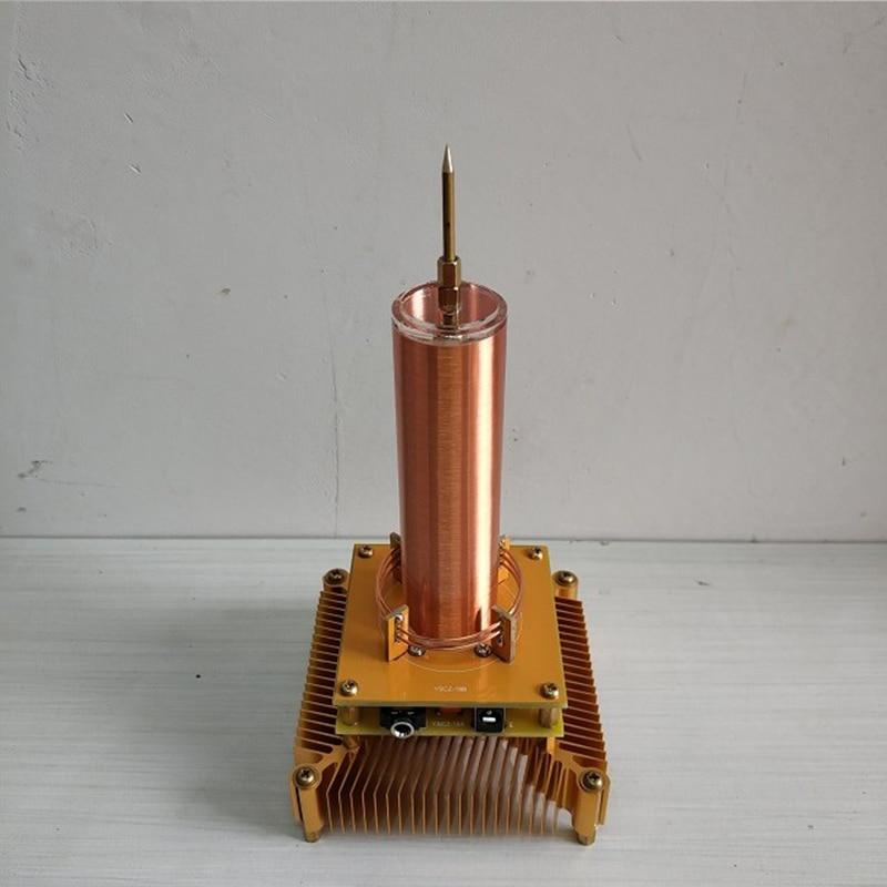 Cewka tesli odtwarza muzykę ion wiatrak wieniec lampa dystansowa transmisja bezprzewodowa eksperyment naukowy