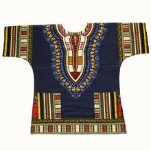 Dashiki mode design africain traditionnel imprimé 100% coton Dashiki T-shirts pour unisexe Tribal ethnique Succunct Hippie 2019