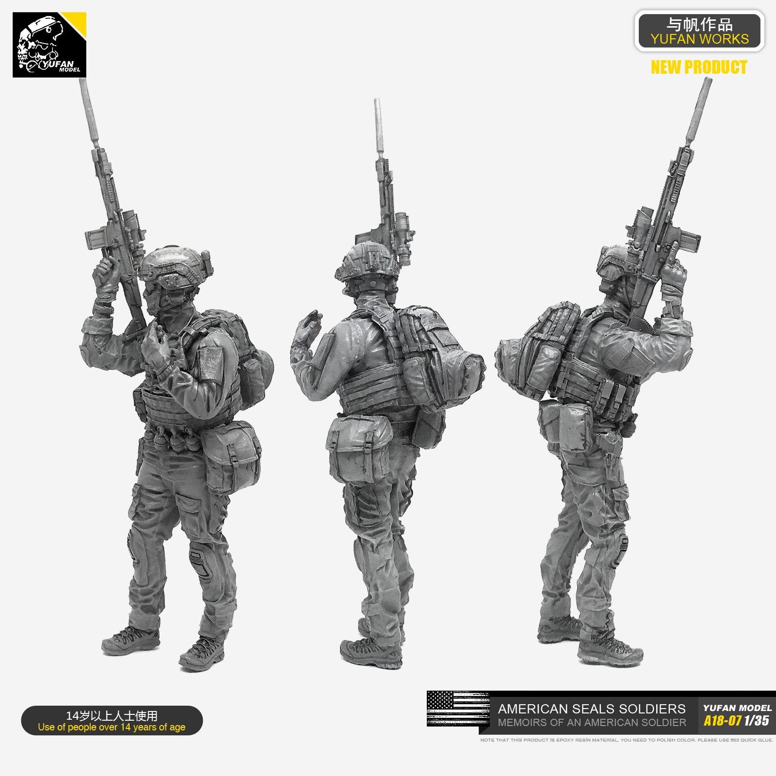1/35 harz Soldat Modell (US Navy SEAS-2) A18-07