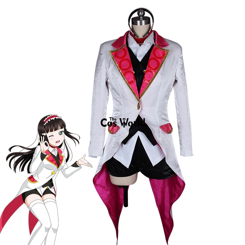 Love Live Sunshine Aqours Kurosawa Dia Mirai Ticket abrigo camisa chaleco pantalones uniforme traje Anime Cosplay disfraces