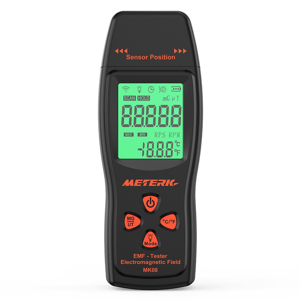 Medidor EMF de mano Mini Digital LCD EMF Detector campo electromagnético probador de radiación dosímetro probador contador