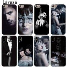 Lavaza cinquante nuances plus foncé de gris libéré étui pour iphone XR X 11 Pro XS Max 7 8 6 6S 5 5S SE 4S 4 10 couverture