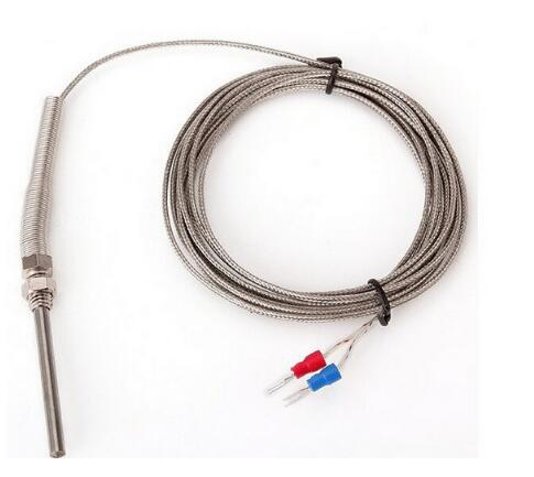 2pcs 3 2 Medidor Medidor de Alta Temperatura-100 ~ 1250 C 100 milímetros Termopar tipo K Sonda Sensores de Aço Inoxidável Acessório Multímetro