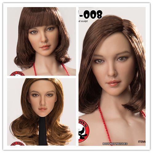 """Accesorio de figura a escala 1/6, escultura de cabeza femenina de belleza asiática para muñeca de figura de acción de 12 """", no incluye cuerpo y otros D1899"""