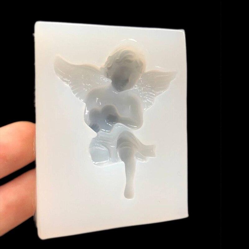 Pulido sin espejo uv cristal molde de gotas alas amor Ángel Bebé DIY accesorios de la cáscara del teléfono móvil