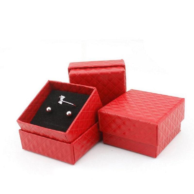 Caja organizadora de joyas anillos/pendientes almacenamiento pequeña caja de regalo DIY caja de exhibición artesanal paquete boda/etc patrón de diamante esponja wh