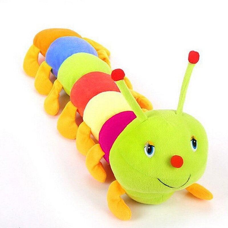 1 peça 50 cm lagartas coloridas millennium bug boneca brinquedos de pelúcia bebê crianças grande caterpillar hold travesseiro boneca 88 -17