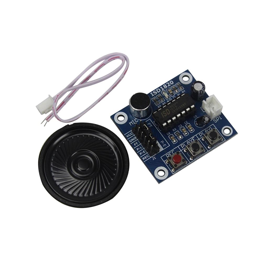 ISD1820 модуль записи голоса с микрофоном, звук аудио, громкоговоритель, Diy радиоуправляемая игрушка, набор, плата для разработки