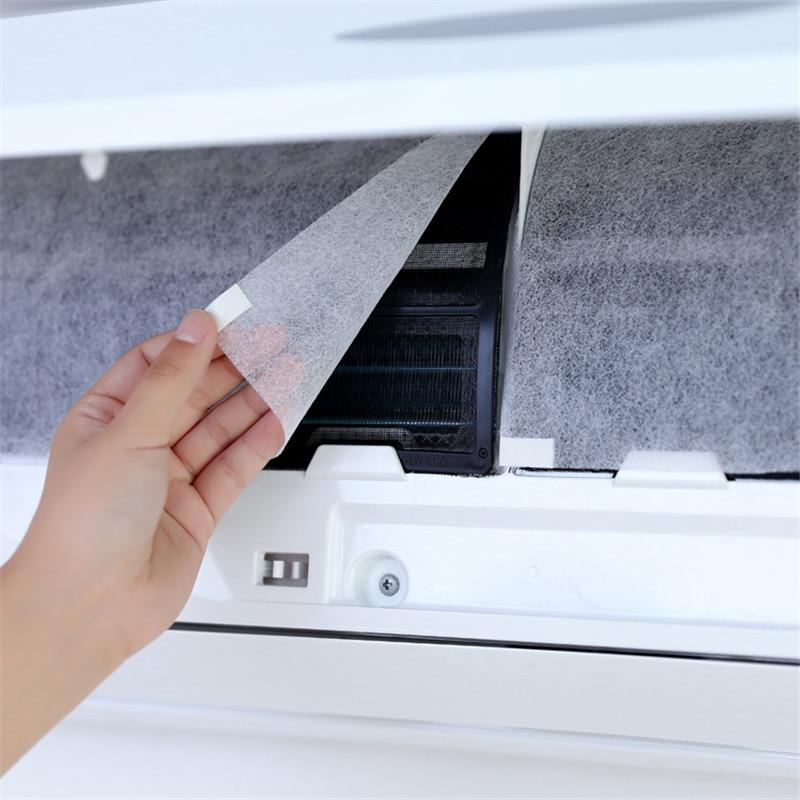 10 шт., разделяемый фильтр для кондиционера, пылезащитная сетка, очистка, очистка, детали кондиционера, очиститель воздуха, Пылезащитный фильтр