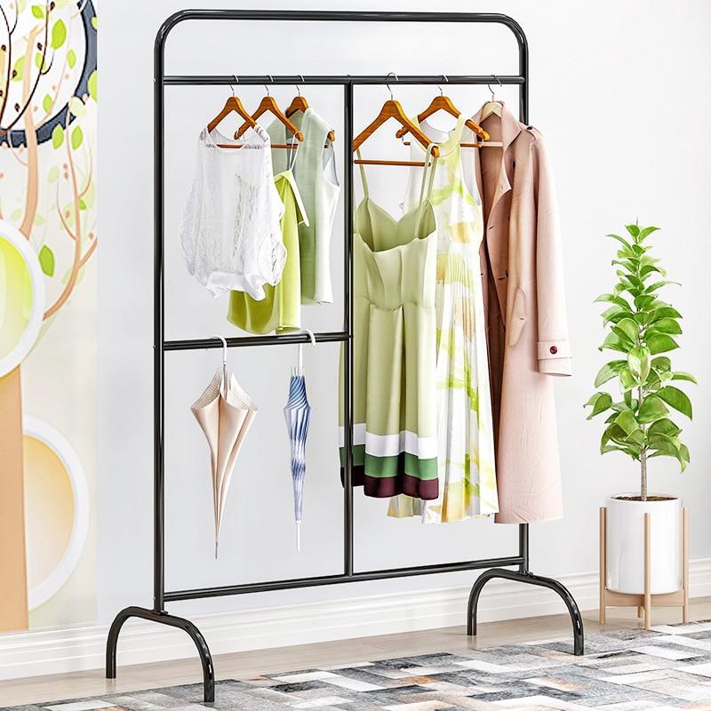 Креативная модная вешалка для одежды, уличная полка для хранения балкона, железная вешалка для творчества, сушилка для одной удочки, вешалк...