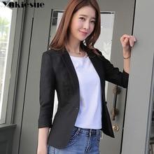 Women Blazers And Jackets 2019 Spring Autumn Fashion Single Button Blazer elegant Ladies Blazer Office work wear Female jacket