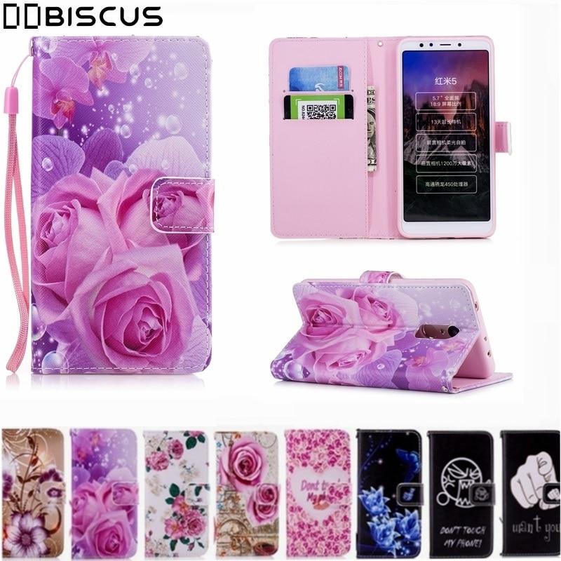Fashion Leather Flip Wallet Soft TPU Cases Silicone Cover For XiaoMi Mi6X Mi 6X 5X A1 A2 RedMi 4A Note 4 4X 5 Pro 5A Prime Case