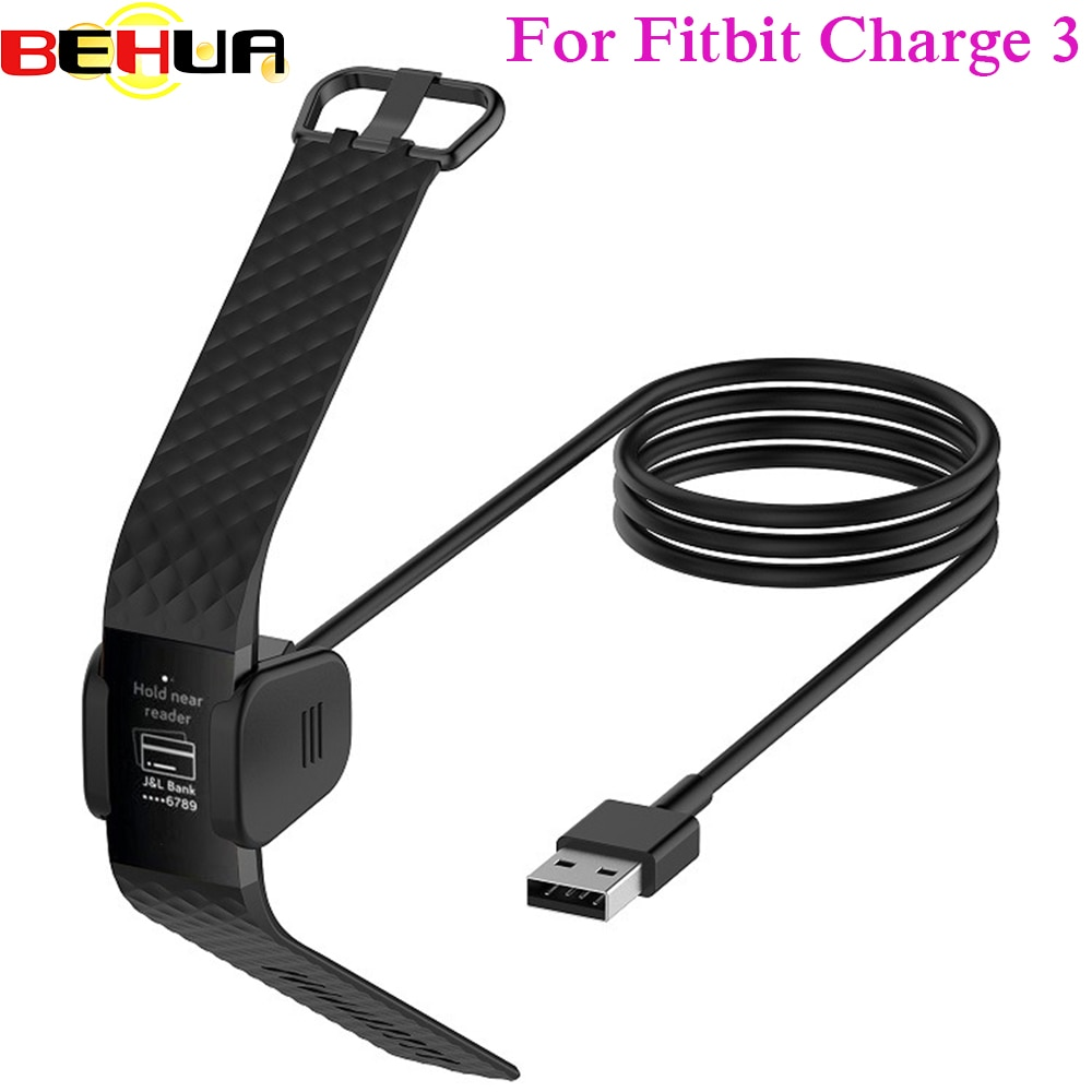 Reemplazable cargador USB para Fitbit Charge3 pulsera inteligente Cable de carga USB...