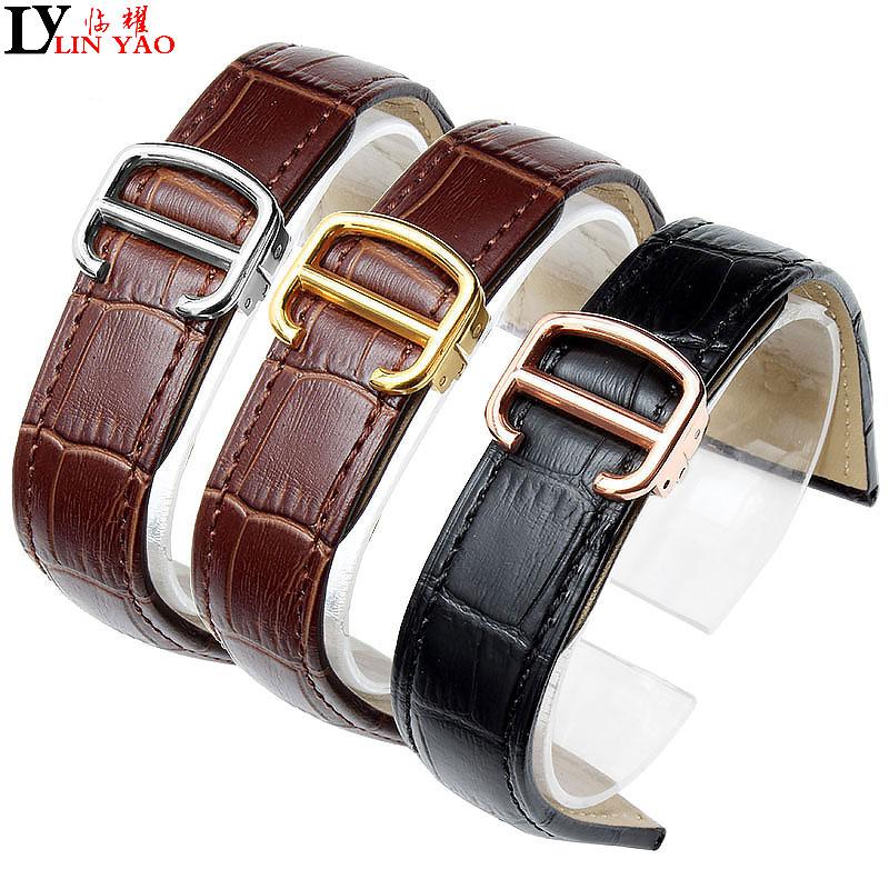 Ремешок для часов Cartier Tank Solo W6700255 из натуральной кожи, ремешок для часов 20/22/23/24/25 мм, браслет для мужчин, ремешки для часов, бесплатная доставка