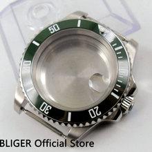 40MM vert lunette en céramique saphir cristal boîtier de montre adapté pour ETA 2836 mouvement automatique C99
