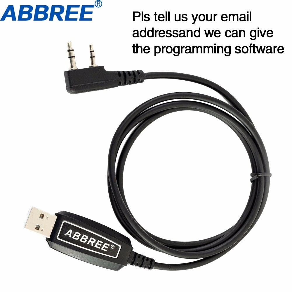 Cabo de Programação USB Win XP Abbree/Win7/Win8/Win10 para ABBREE AR-F1 AR-F2 AR-F6 AR-F8 AR-889G Walkie talkie Rádio Portátil