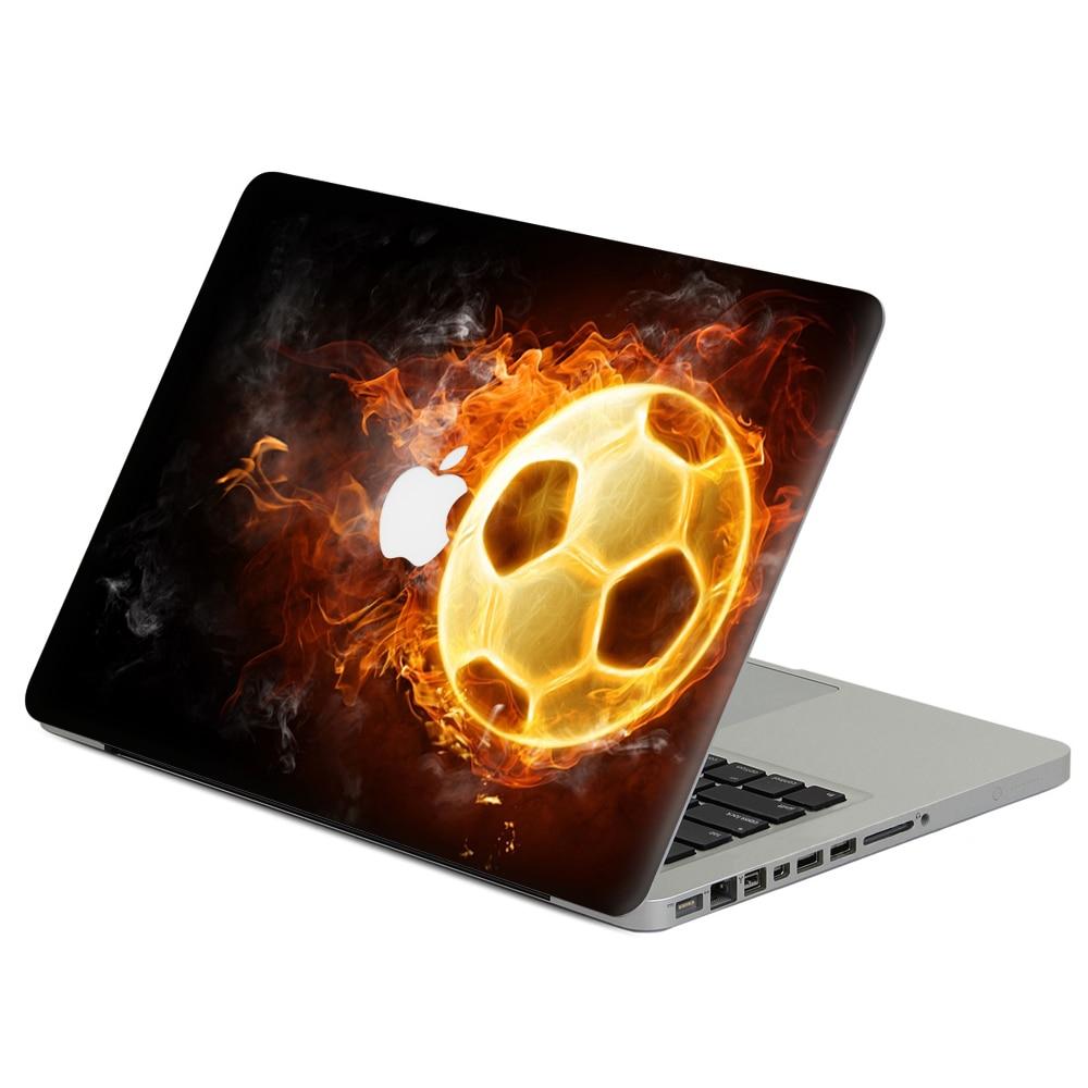 "Chama futebol Laptop Decal Adesivo Skin Para MacBook Air Pro Retina 11 ""13"" 15 ""vinil Mac Notebook Caso Cobertura Completa Da Pele Do Corpo"