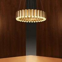 Creative light luxury bronze golden paint iron chandelier restaurant decoration LED G9 hanging wire lighting