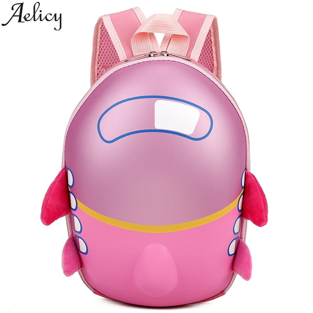 Aelicy 2019, mochila de moda para bebés, niños, niños, bonito Avión de dibujos animados, cáscara de huevo, mochila infantil de viaje, mochilas escolares para niños