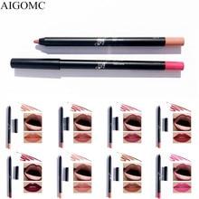 AIGOMC crayon à lèvres maquillage maquiagem 1 pièces coloré mat imperméable longue durée lèvres cosmétiques maquillage crayon à lèvres