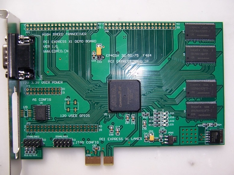 لوحة تطوير S5300 PCIE, PCI EXPRESS X1 PCI-E X1 FPGA