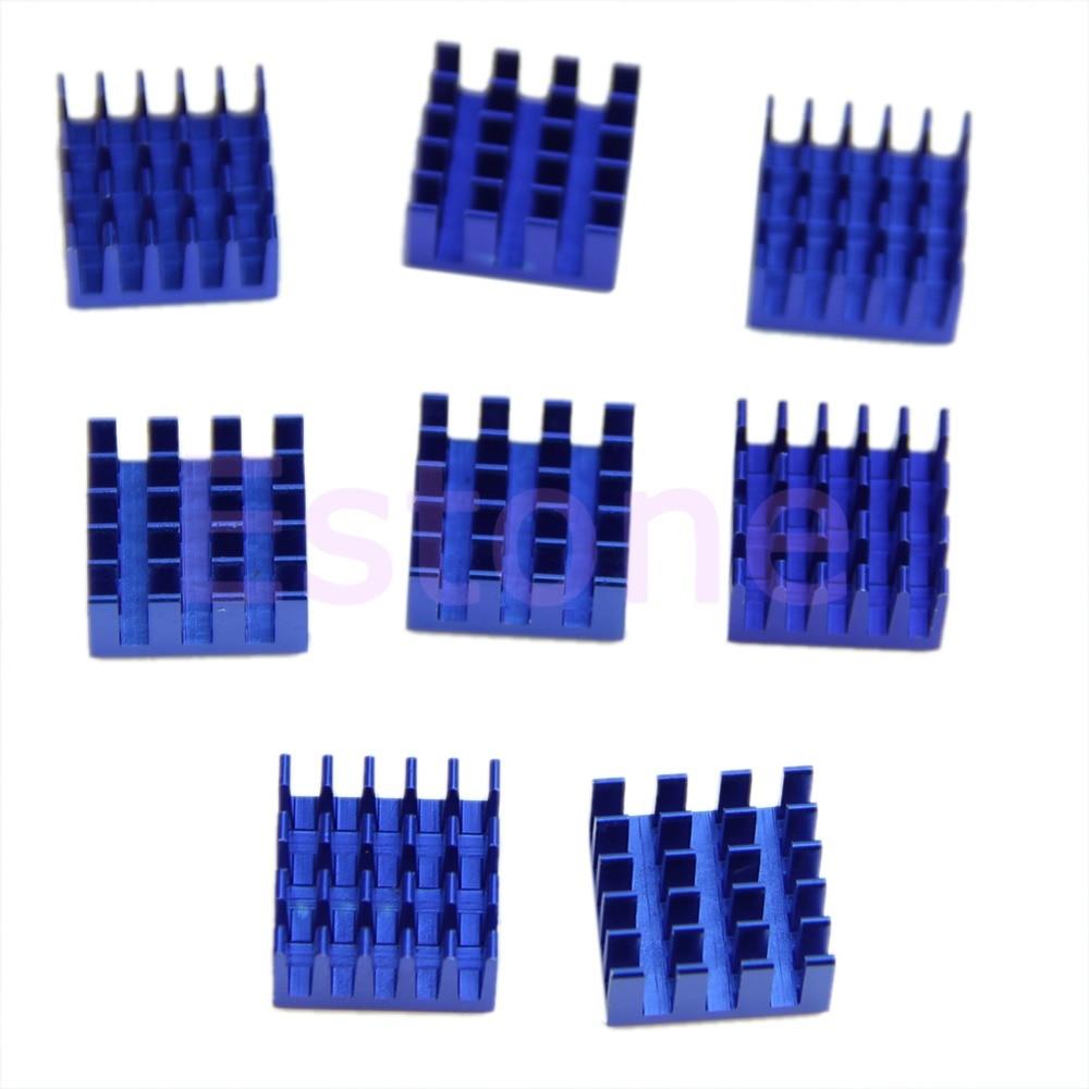 """""""Envío gratis 8 unids/lote 15mm * 15mm * 8mm de aluminio shim pad térmico VGA RAM disipadores de calor estabilizador de memoria de enfriamiento del refrigerador para DDR"""