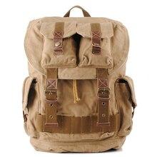 stacy bag 041616 hot sale good quality man vintage canvas backpack male large capacity travel bag