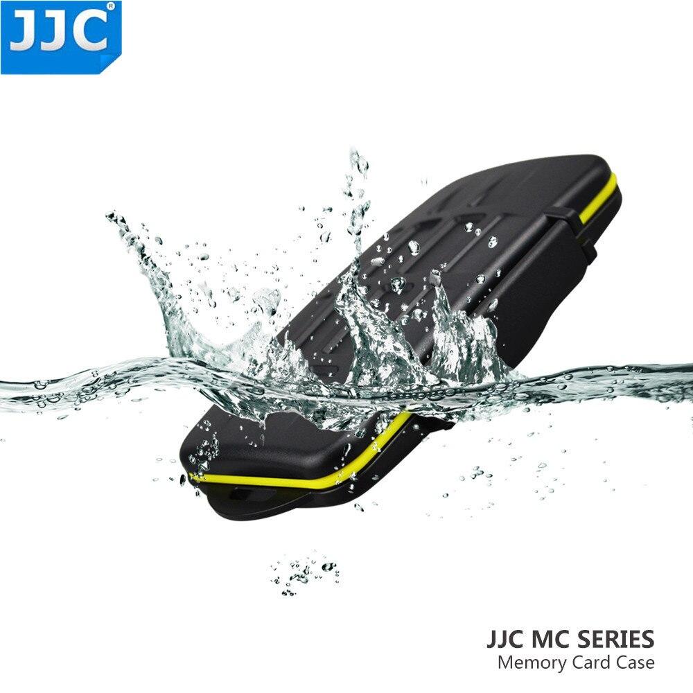 JJC titular de tarjeta de memoria SD/SDHC/CF/XD/SXS/XQD carcasa para tarjetas resistente al agua caja para Canon/Nikon/Sony/Fujifilm/Olympus/Leica caso