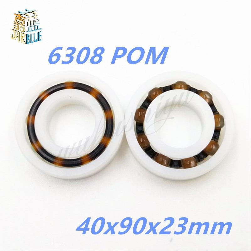 6308 POM (10PCS)  Plastic ball bearings 40x90x23mm  Glass Balls 40mm/90mm/23mm