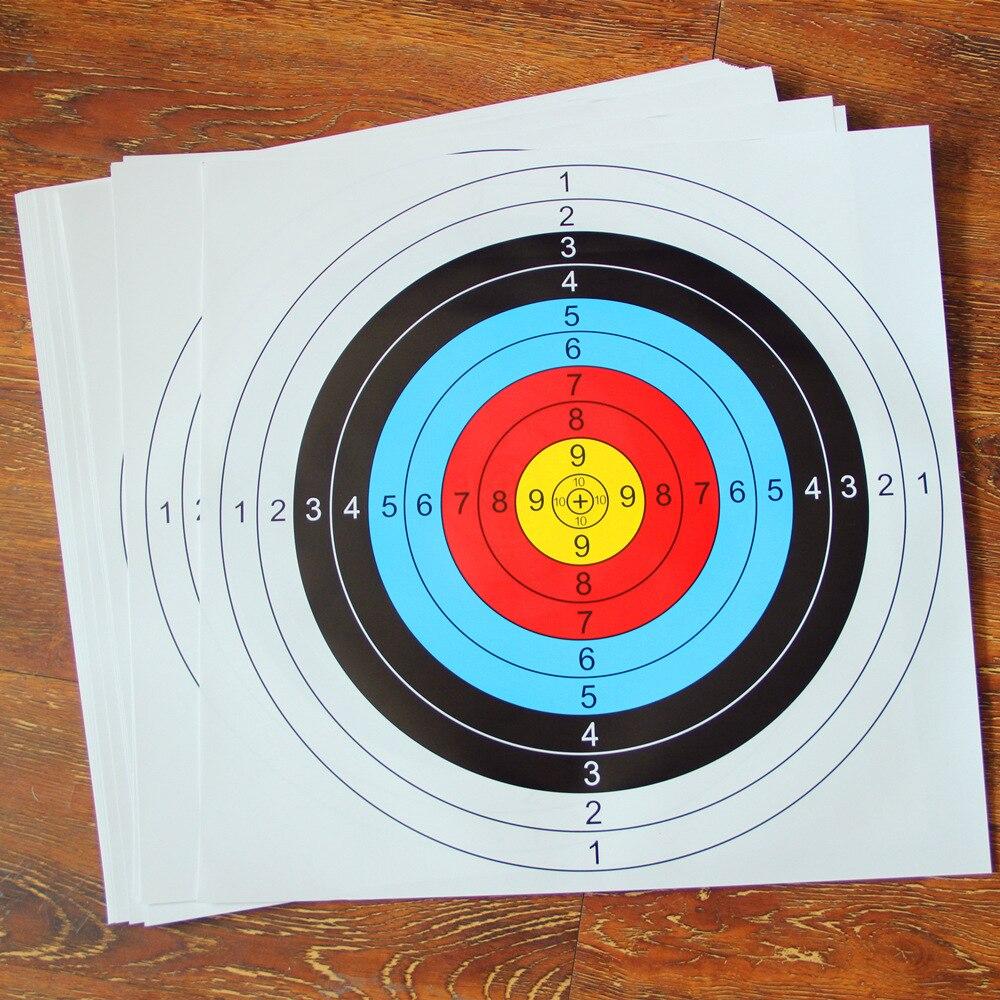 Nuevo mejor 60cm * 60cm papel de blanco de Tiro con Arco anillo estándar de un solo punto arco de Tiro con Arco accesorio de práctica de entrenamiento