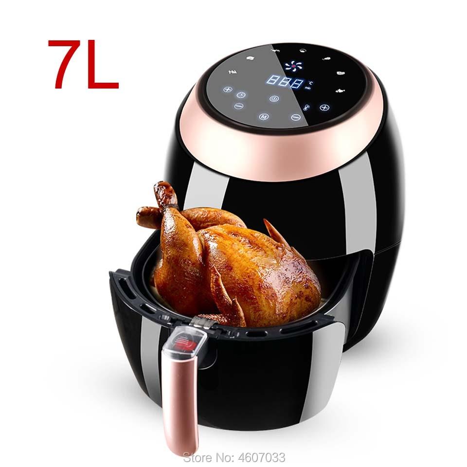 110v 220v 7l fritadeira de ar de grande capacidade inteligente automático elétrico batata chipper casa multi-funcional forno sem óleo de fumaça
