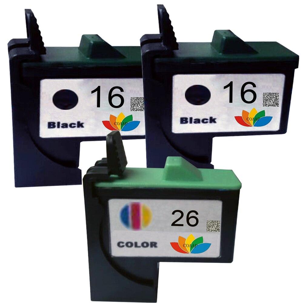 3 PK совместимый 16 26 чернильный картридж 10N0016 10N0026 для принтера Lexmark X74 X75 X1185 X1100 X1110 X1130 X1150 X1195 X1240
