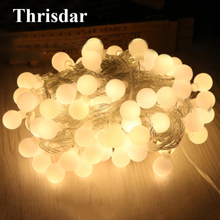 Guirnalda de luces LED BEIAIDI con forma de globo, 10 M, 20 M, 30 M, 50 M, bola de Navidad, boda, fiesta, guirnalda de luces de Patio