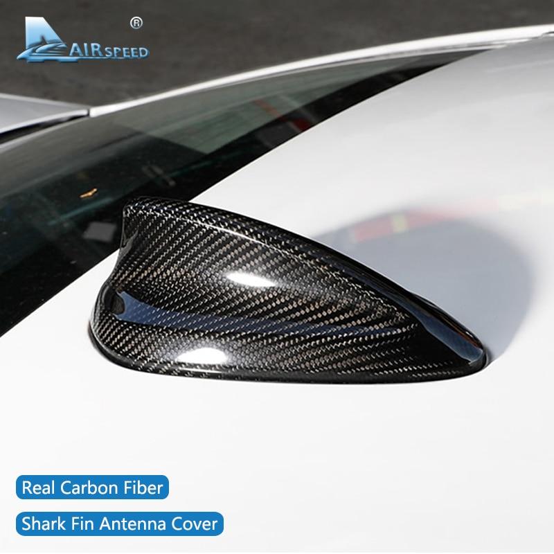 AIRSPEED для BMW E90 E92 F20 F30 F10 F34 G30 G20 F15 F16 F21 F45 F56 F01 аксессуары из углеродного волокна Акулий плавник антенна крышка отделка
