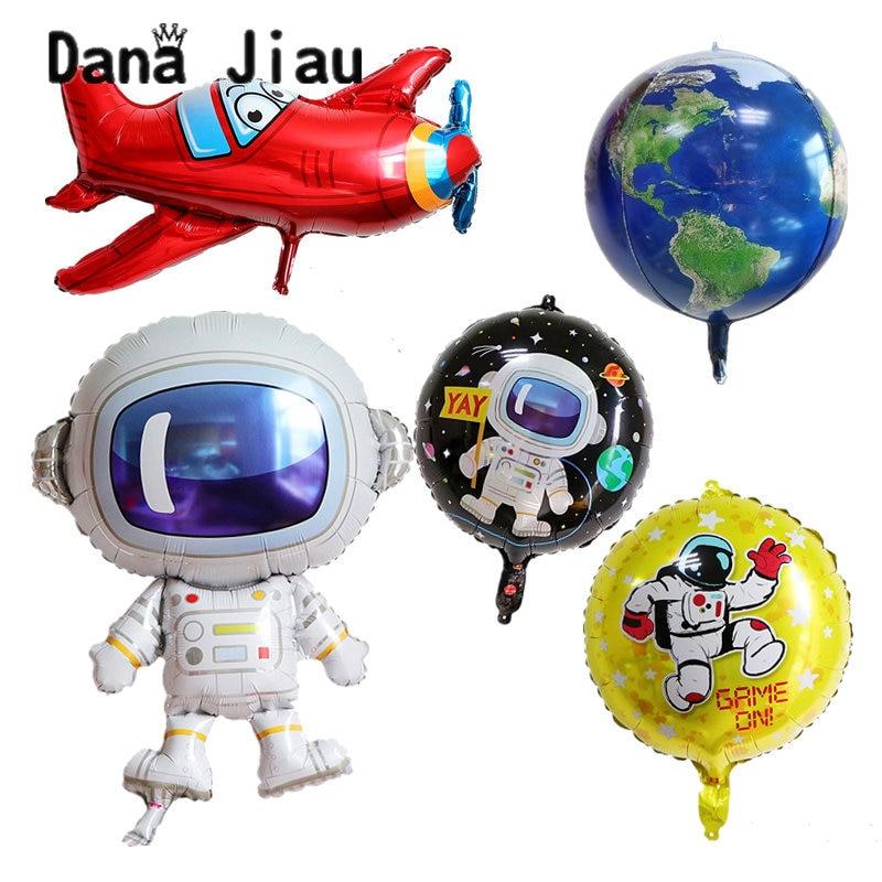 DanaJiau космонавт шар из фольги, декоративный шар для вечеринки с днем рождения, Защита окружающей среды Воздушные шары и аксессуары      АлиЭкспресс