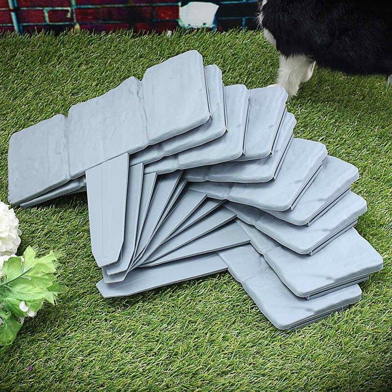 Hot Sale Grey Garden Fence Edging Cobbled Stone Effect Plastic Lawn Edging Plant Border Decorations Flower Bed Border