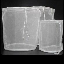 Bolsa filtrante de nailon de malla de grado alimentario 100/160/200/250/300 para cerveza casera, vino tinto, arroz, vino, zumo, soja, té de la leche