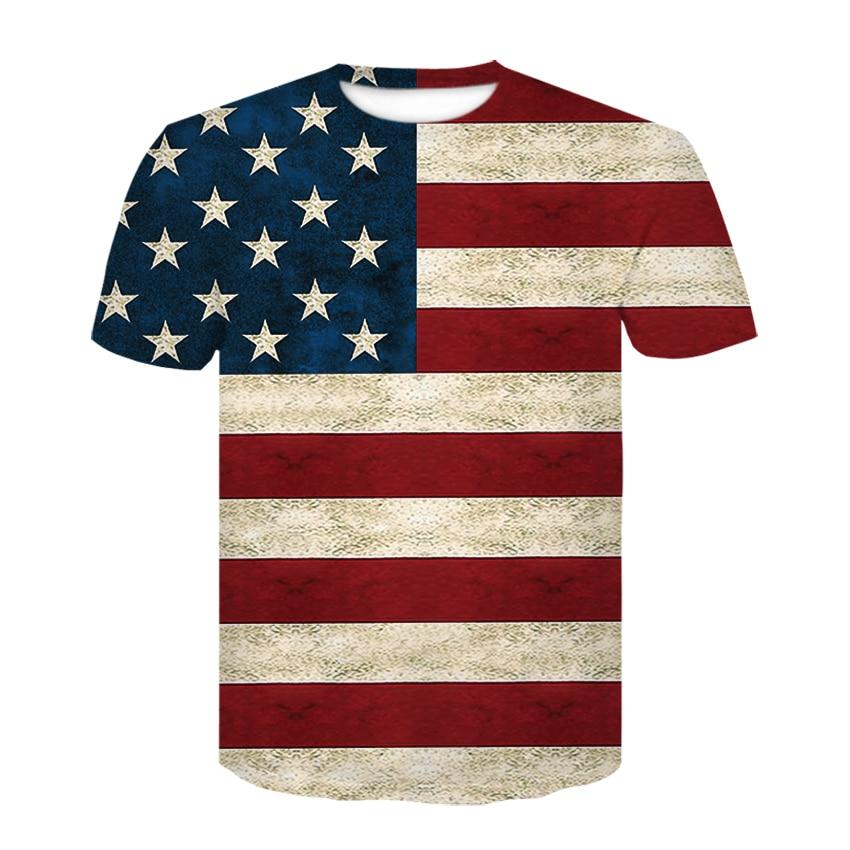 New USA Flag T-shirt Men/Women Sexy 3d Tshirt Print Striped American Flag Men T Shirt Summer Tops Tees Plus 4XL