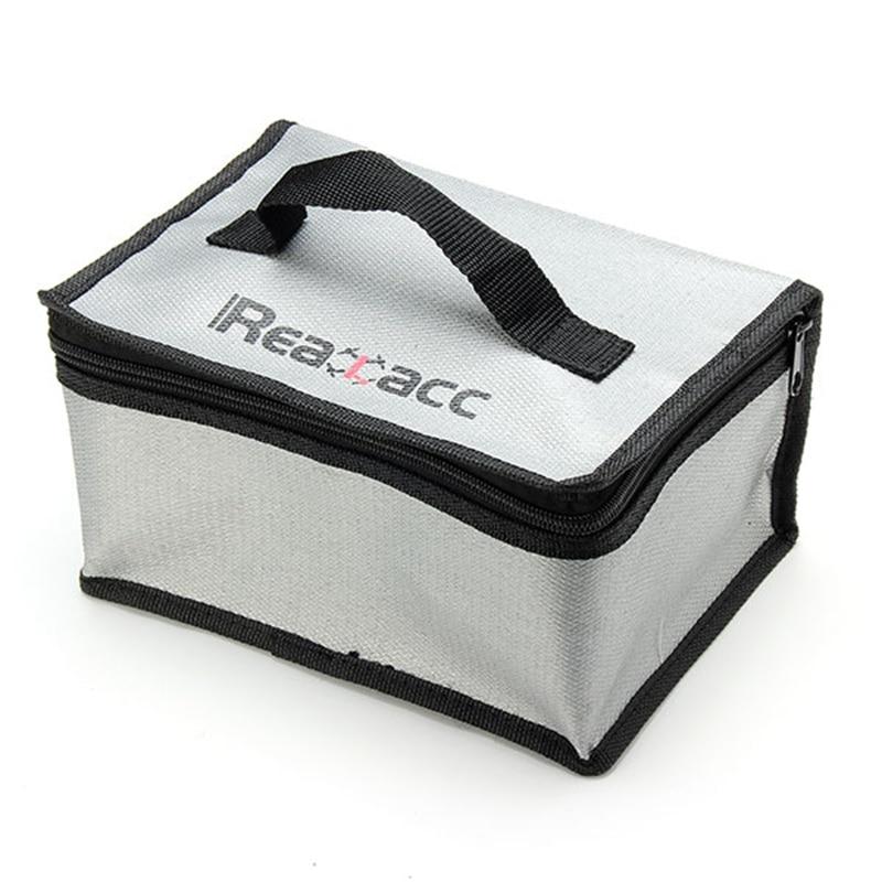 220x155x115mm  Fireproof RC LiPo Battery Safety Bag Charging Bag With Handle Fire retardant fiberglass woven fabric