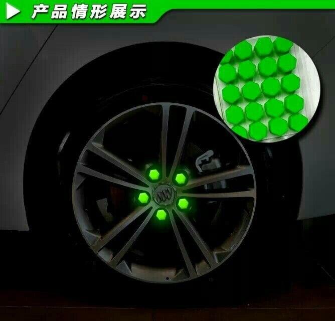 El más popular diseño de coche 20 piezas Gel de sílice cubiertas para tuercas de rueda tapas protectoras para pernos Protector de tornillo de cubo 17 #19 #21 #