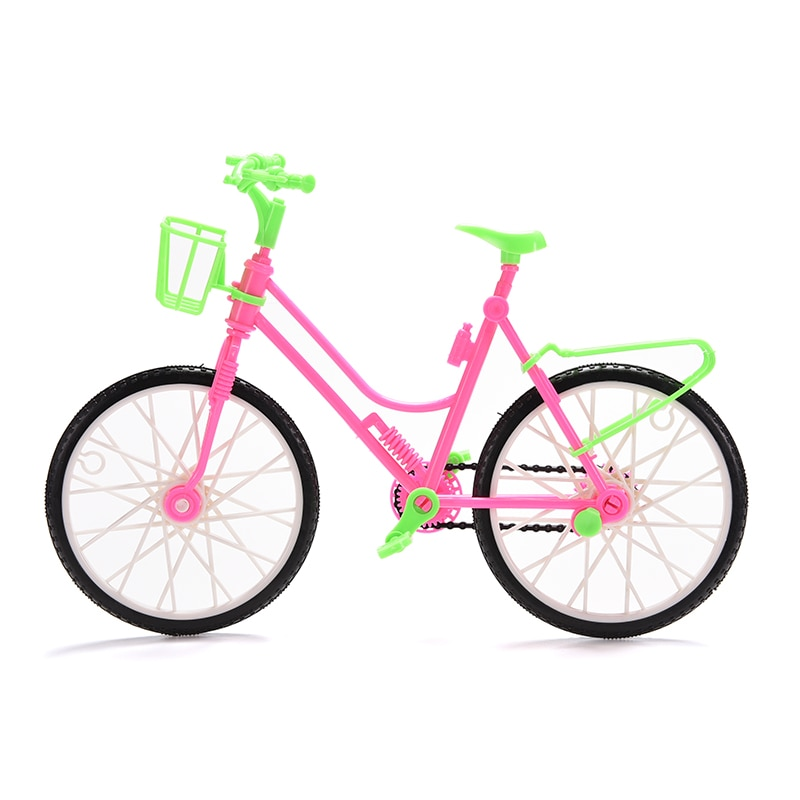 DIY Mini bicicleta de dedo con cesta de regalo de niñas para muñeca desmontable accesorios de juguete de plástico mano de obra Uncanny decoración del hogar