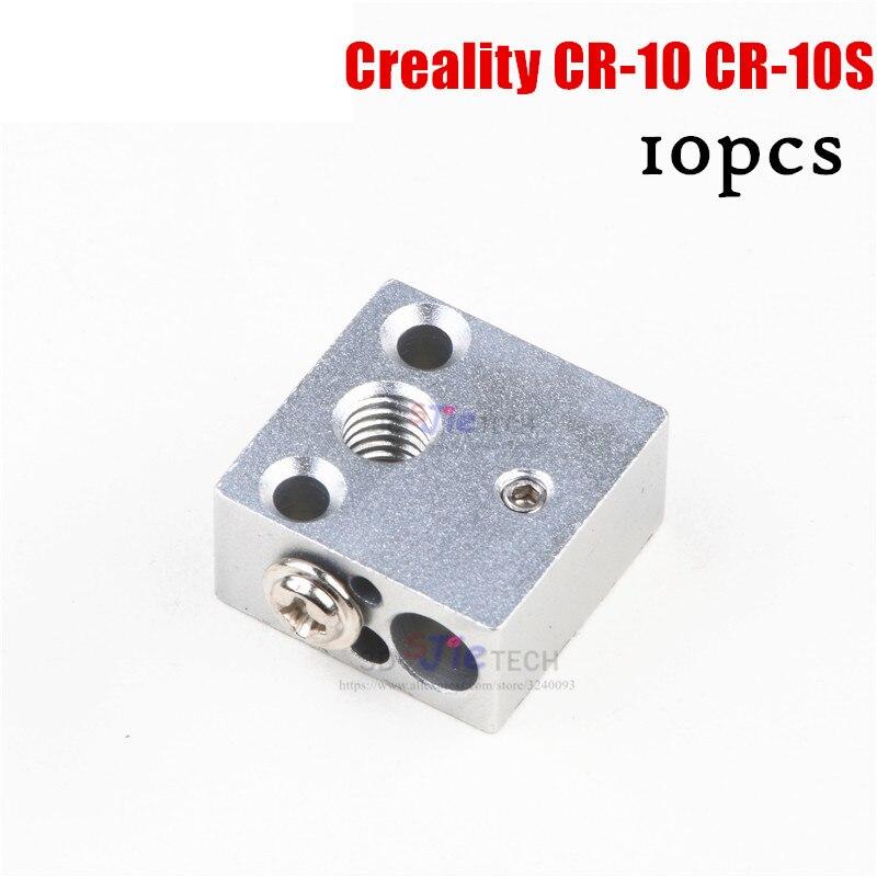 10 Uds. Cartucho de sensor PT100 de bloque calefactor de metal de crealidad mejorada M6 20*20*10mm MK10 para Creality CR 10 CR-10 S piezas de impresora 3D