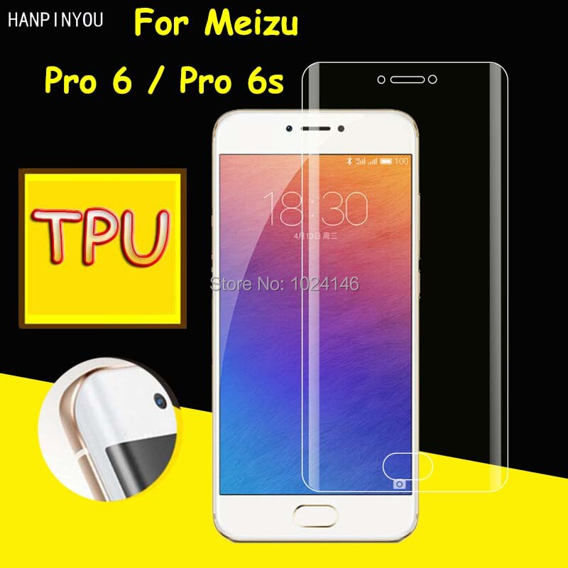 New Full Coverage Clear Soft TPU Film Screen Protector For Meizu Pro 6 6s Pro6 / Pro6s Cover Curved