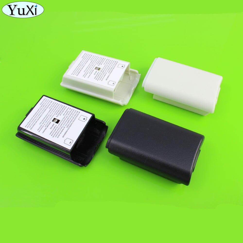 يوشى [100 قطعة/الوحدة] الأسود و الأبيض اختياري البلاستيك بطارية حزمة بطارية غطاء حالة استبدال لأجهزة إكس بوكس 360 إصلاح جزء