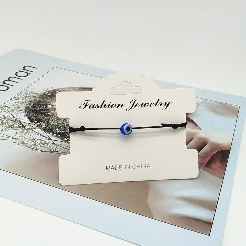 Turkish Eye Blue Evil Eye Charms Bracelet black String Thread Rope Bracelet For Women Men Child thread amulet jewelry