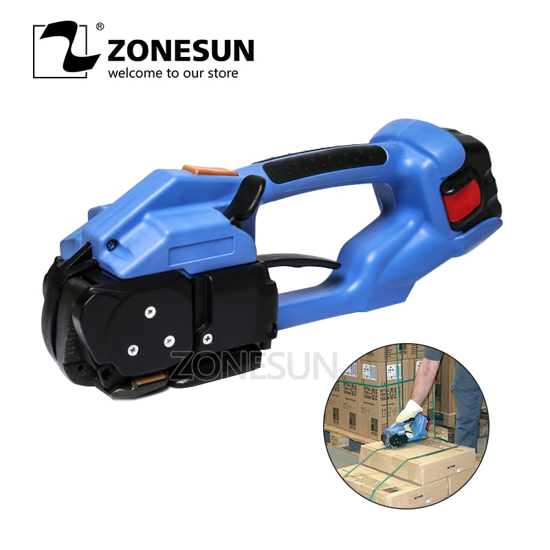 ZONESUN ort200 Battery Powered Strapping Tool Electric Plastic Strapping Tool