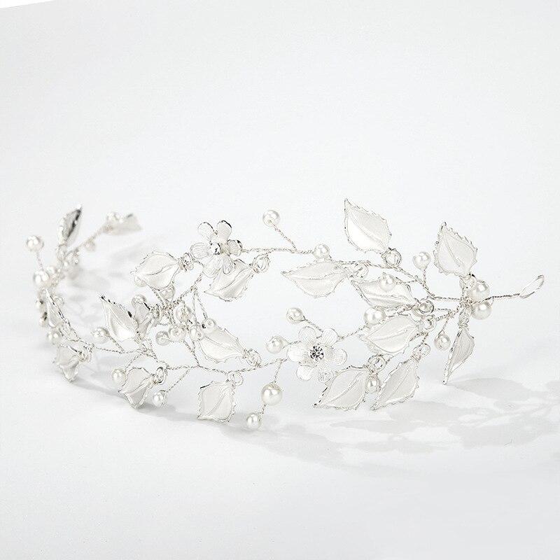 Accesorios para el cabello de la boda de Woodqiqi tocados nupciales para novia corona de novia corona para el cabello joyeria