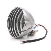 Chrome Grill Vintage Headlight Lamp For Harley Dyna Sporster Chopper Bobber VT